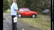 Spud Gun Destroys Car Video