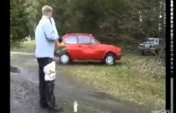 Spud Gun Destroys Car Video