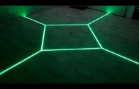 how to LED floor tiling system DIY make your floor interactive Aluminium LED Light tilebar profile